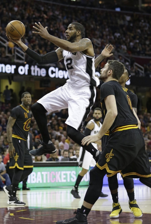 Leonard scores 41, Spurs down Cavaliers 118-115 in overtime The Associated Press