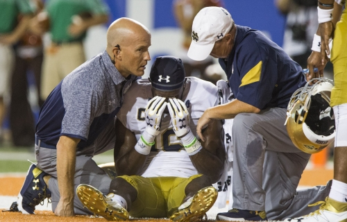 Examining college football's controversial targeting rule and how it impacts Notre Dame