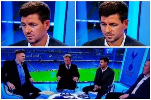 'Classless' - BT Sport's Jake Humphrey criticised for awkward 'slip' joke to Steven Gerrard