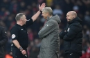 Arsene Wenger apologises for pushing fourth official after being sent-off in frantic Arsenal victory over Burnley