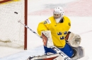 Catching up with Islanders goalie prospect Linus Söderström, who's happy on Planet HV71