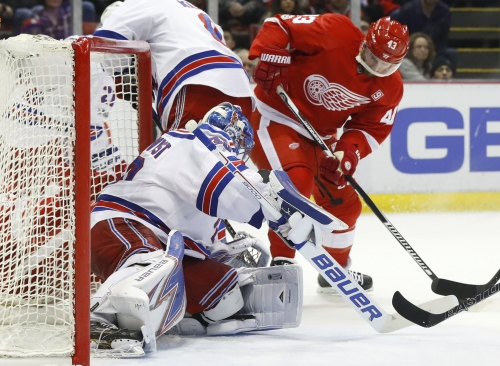 Red Wings fall 1-0 in overtime to Rangers, Henrik Lundqvist