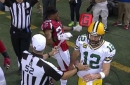 Aaron Rodgers sent a Falcons DB into an epic flop with a flick of his arm