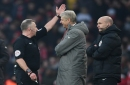 Arsene Wenger handed FA charge of misconduct following push on Anthony Taylor during Burnley win