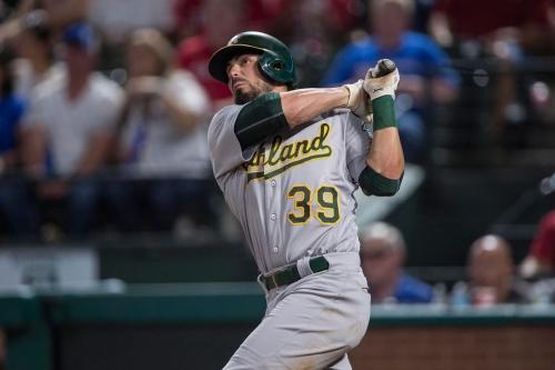 Oakland A's trade Brett Eibner to Dodgers for Jordan Tarsovich