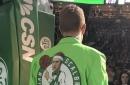 Brian Scalabrine Wore A Jacket Featuring Brian Scalabrine With Brian Scalabrine Misspelled