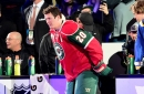 Ryan Suter... Doesn't nail the one-timer.
