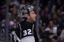Los Angeles Kings Have Jonathan Quick Practicing in Full Gear