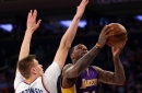 Tarik Black offers reminder he is an NBA player in Lakers' new starting lineup