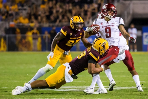Now officially former Cougs, WSU's Gabe Marks and Riley Sorenson are prepping for the NFL Draft