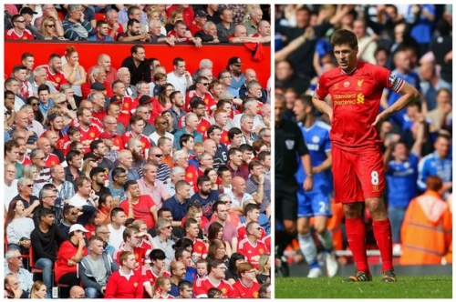 Manchester United fans' new banner mocks Liverpool legend Steven Gerrard