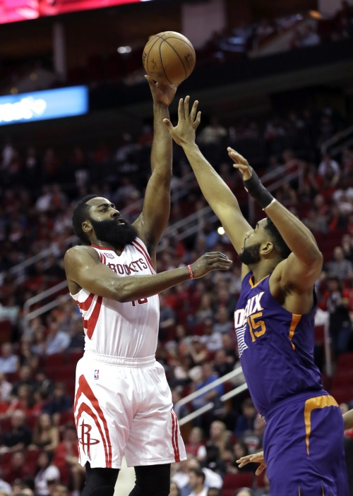 Harden's 40 leads Rockets over Suns 133-102 The Associated Press