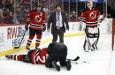 What is biggest hurdle for Devils' John Moore in 1st game back from concussion?