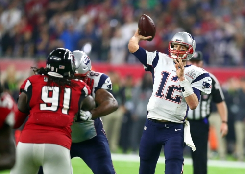 Brady says a 'Peyton Manning-type throw' helped Patriots win Super Bowl