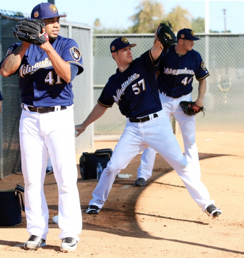 Brewers manager Craig Counsell will give starting candidates lots of work in camp