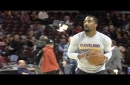 J.R. Smith tests repaired broken thumb before Cavs vs. Pacers (video)