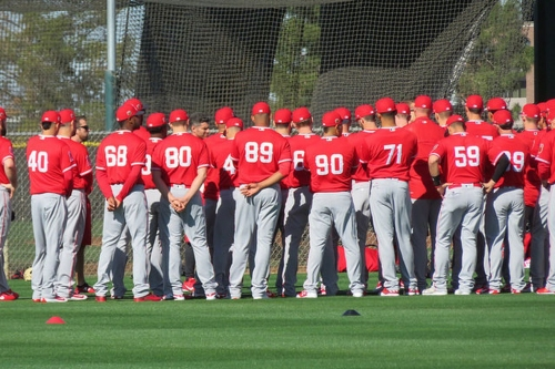 MLB spring training 2017: First workout for Angels pitchers and catchers