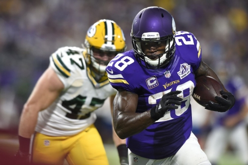 Vikings' RB Adrian Peterson continues flirtation with New York Giants