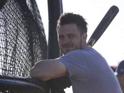 Greg Maddux pranks Cubs MVP Kris Bryant in batting cage