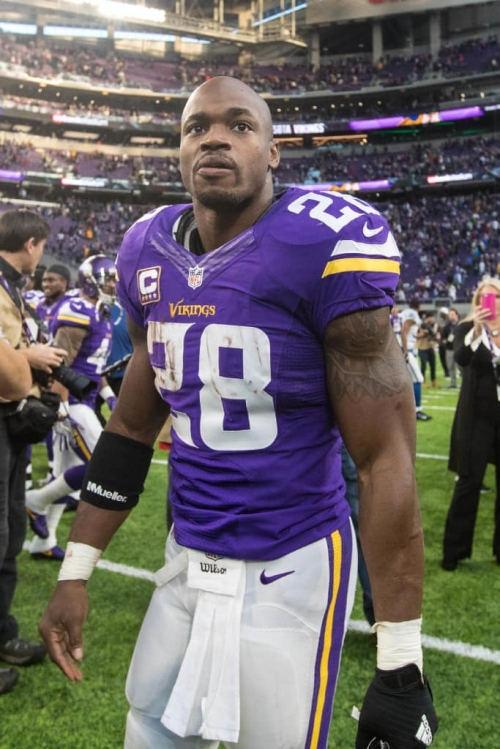 Vikings running back Adrian Peterson in a New York state of mind?