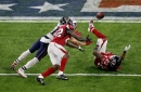 Julian Edelman glances back on his 23-yard catch in Super Bowl LI