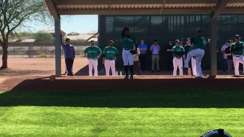 Mariners' starting rotation and closer throw their first bullpen sessions of spring training