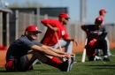 Joey Votto reports to camp as elder statesman on young team