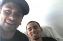 Neymar visits Gabriel Jesus in Barcelona