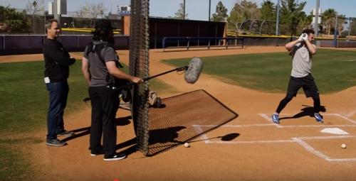 Hall of Famer Greg Maddux pranks Cubs' Kris Bryant during batting practice video shoot