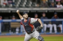 Blake Swihart, Boston Red Sox catcher, having difficulty with throws back to pitcher