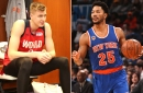 Kristaps Porzingis can't get on same page with Derrick Rose