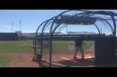 Boston Red Sox's Killer B's, Andrew Benintendi, Jackie Bradley Jr., Mookie Betts, show off swings (VIDEO)