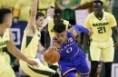 No. 3 Kansas closer to Big 12 with 67-65 win at No. 4 Baylor The Associated Press