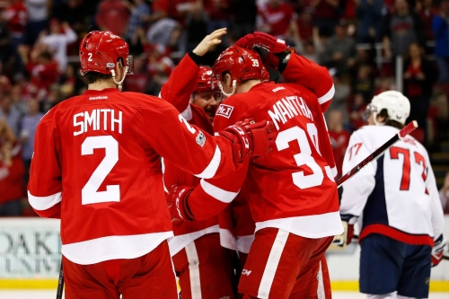 Wings Blow Lead Late, Beat Capitals in Shootout