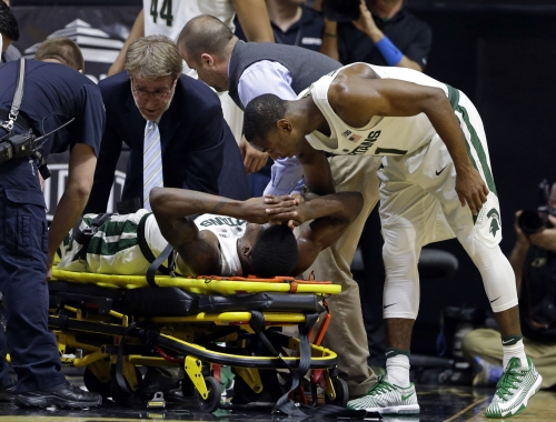Eron Harris diagnosed with 'badly sprained knee,' future status unknown