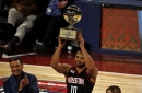 Eric Gordon wins the 3-point contest in All-Star Saturday tire fire