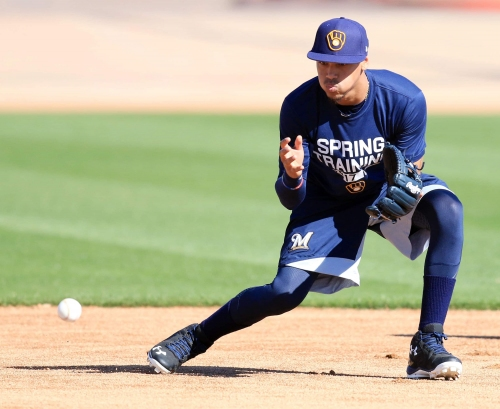 Brewers by position: Shortstop Orlando Arcia learning from tough early lessons