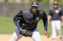 Yankees' Aroldis Chapman locked in at spring training (PHOTOS)
