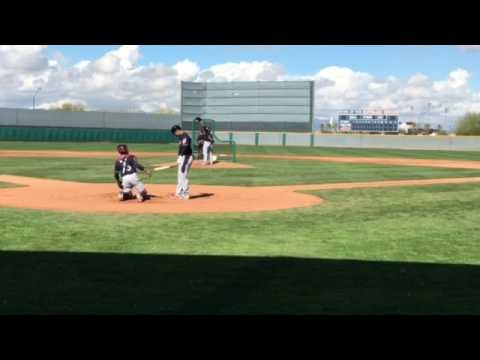 Michael Brantley stands in for Cleveland Indians live batting practice (video)