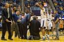 Bob Huggins falls in minor health scare during West Virginia's win against Texas
