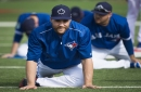 Paralympic swim star Benoit Huot helps Toronto Blue Jays' Russell Martin get in shape, 'balance' his body with pool training