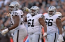 What condition Raiders' position is in pre-free agency: Guard/center