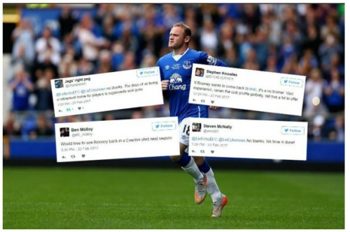 Everton fans are split about possibility of a Wayne Rooney return