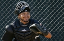 White Sox's Omar Narvaez following veteran catcher Geovany Soto's lead