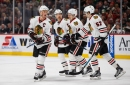 Five-point scorer Jonathan Toews is just enjoying the weather