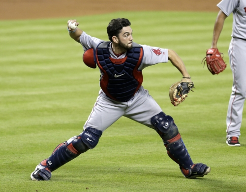 Blake Swihart, Boston Red Sox C, wasn't worried about throwing issues, says he had no problems Thursday