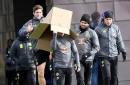 Diego Costa finds a cardboard box at Chelsea training, shenanigans ensue