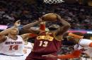 Cleveland Cavaliers' Tristan Thompson blocks Derrick Rose, gets rebound slam (video)
