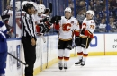 Monahan Scores 100th, Flames Win in Tampa