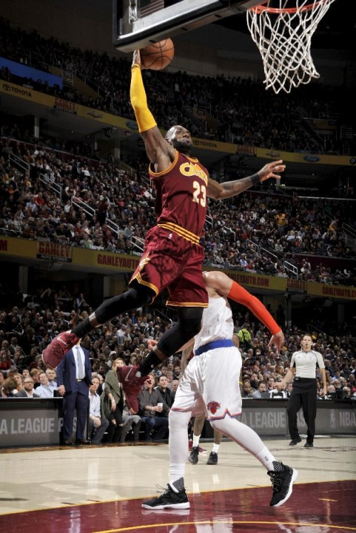 Irving, James lead Cavaliers past Knicks, 119-104 The Associated Press